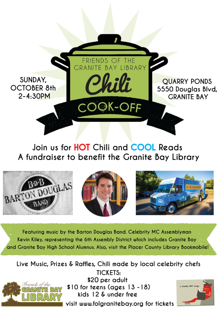 2017 FOL Chili Cook Off Flyer